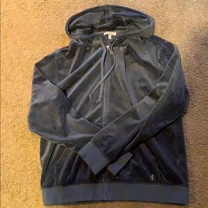 Juicy Couture dark grey velour sweatshirt